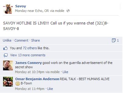Savoy Hotline